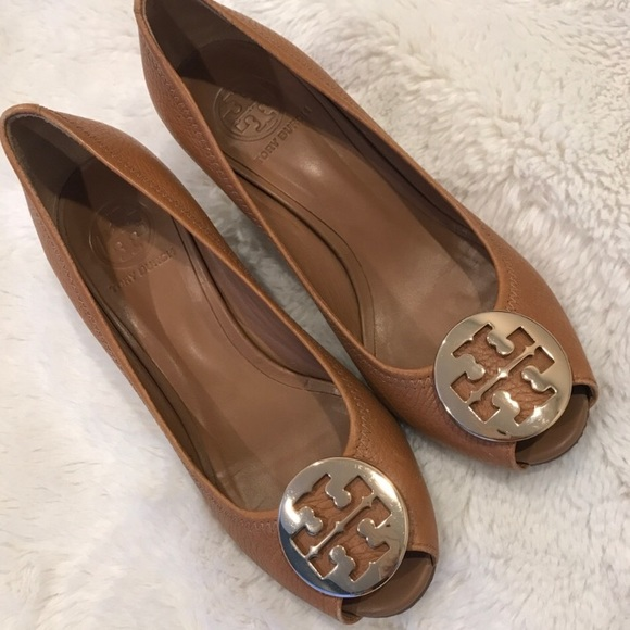 c3f9c52e076 Tory Burch Shoes - Tory Burch Sally Peep Toe Wedge Pump 6.5